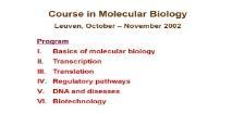 Molecular Cell Biology PowerPoint Presentation