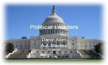 Political Leaders PowerPoint Presentation
