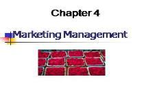 Marketing Management PowerPoint Presentation
