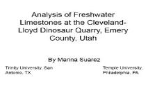 Analysis of Freshwater Limestones at the Cleveland PowerPoint Presentation