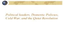 Political Leaders and Domestic Issues PowerPoint Presentation