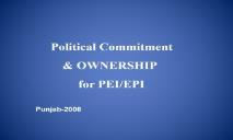 Maintaining involvement of political leaders in PEI PowerPoint Presentation