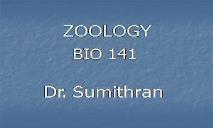 GENERAL ZOOLOGY PowerPoint Presentation