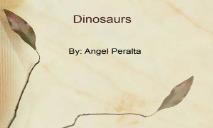 About Dinosaur PowerPoint Presentation