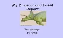 Dinosaurs and Fossil PowerPoint Presentation