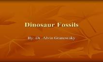 Dinosaur Fossils PowerPoint Presentation