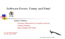 Errors funny fatal PowerPoint Presentation