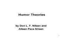 Humor theories PowerPoint Presentation