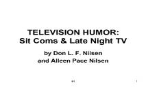 Television Humor PowerPoint Presentation