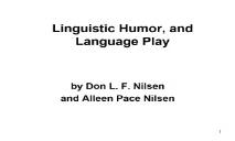 Humor linguistics PowerPoint Presentation