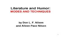 Literature and Humor PowerPoint Presentation