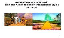 International Humor PowerPoint Presentation