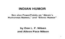 INDIAN HUMOR PowerPoint Presentation