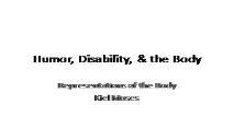 Humor Disability & the Body PowerPoint Presentation