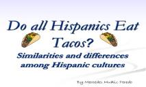 Mercedes Muniz Peredo Do All Hispanics Love Tacos PowerPoint Presentation