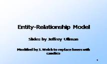 Entity Relationship Model PowerPoint Presentation