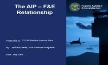 The AIP FE Relationship PowerPoint Presentation