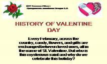 HISTORY OF VALENTINE DAY PowerPoint Presentation