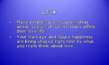 My Love PowerPoint Presentation