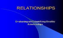 RELATIONSHIPS PowerPoint Presentation