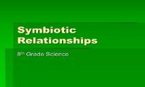 Symbiotic Relationship PowerPoint Presentation
