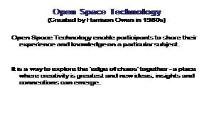 Open Space Technology PowerPoint Presentation