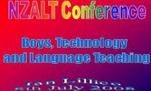Boys technology and language teaching PowerPoint Presentation