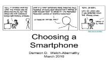 Choosing a Smartphone PowerPoint Presentation