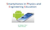 Smartphone Physics and Engineering PowerPoint Presentation