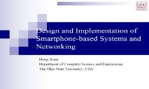Smartphone Systems as Sensing Systems PowerPoint Presentation