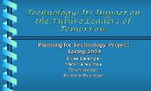 Technology in Education PowerPoint Presentation