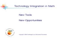 Technology Integration in Math PowerPoint Presentation