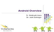 Android Overview PowerPoint Presentation