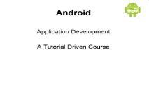 Android Application Development PowerPoint Presentation