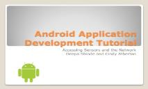 Android Application Development Tutorials PowerPoint Presentation