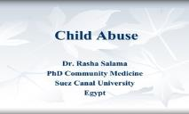 About Child Abuse PowerPoint Presentation