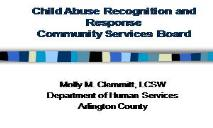 Child Abuse (Recognition and Response) PowerPoint Presentation