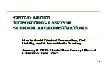 Child Abuse Council of Santa Clara County PowerPoint Presentation