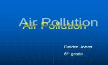 Save Earth By Air Pollution PowerPoint Presentation