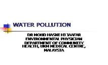 SAVE EARTH BY WATER POLLUTION PowerPoint Presentation
