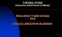 Child labour Background in Albania PowerPoint Presentation