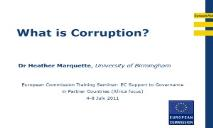 Corruption Overview PowerPoint Presentation
