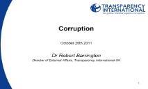 About Corruption PowerPoint Presentation