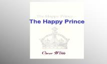 The Happy Prince PowerPoint Presentation