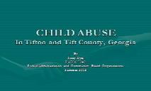 Why CHILD ABUSE PowerPoint Presentation