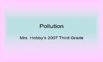 Pollution Overview PowerPoint Presentation