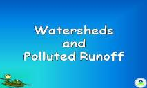 Nonpoint Source Pollution PowerPoint Presentation