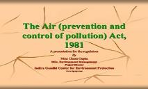 The Air (prevention and control of pollution) PowerPoint Presentation