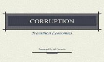 CORRUPTION (Department of Economics) PowerPoint Presentation