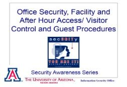 Office Security Facility and After Hour Access Visitor PowerPoint Presentation